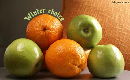 Citrus sinensis и Ябалка