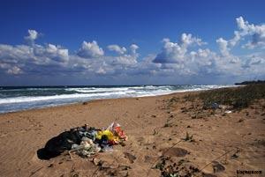 какво  е състоянието на плажът след лятото на крапец